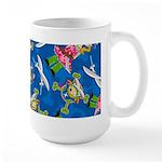Cute Eyepatch Pirate Girl Large Coffee Mug