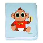 Love Monkey Infant Blanket