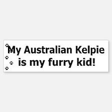 Australian Kelpie Furry Kid Bumper Bumper Bumper Sticker