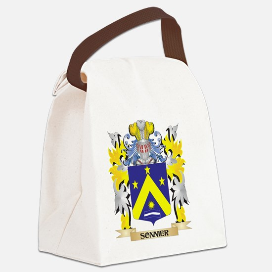 Sonnier Family Crest - Coat of Ar Canvas Lunch Bag