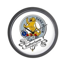 Sutherland Clan Badge Wall Clock