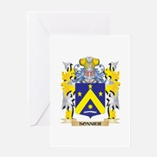 Sonnier Family Crest - Coat of Arms Greeting Cards