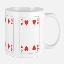 Fours (red) Mugs