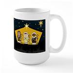 Three Cute Nativity Shepherds Christmas Coffee Mug
