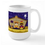 Cute Three Nativity Kings Christmas Mug