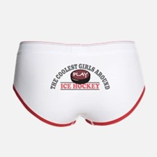 Coolest Girls Play Hockey Women's Boy Brief