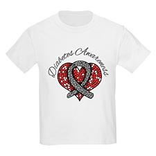 Diabetes Mosaic Ribbon T-Shirt
