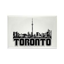 Toronto Skyline Rectangle Magnet