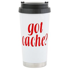 Got Cache? - Red Stainless Steel Travel Mug