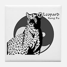 Leopard Kung Fu Logo Tile Coaster