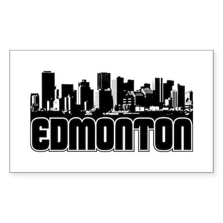 Edmonton Skyline Sticker (Rectangle)