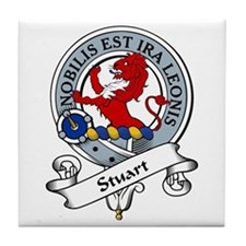 Stuart Clan Badge Tile Coaster