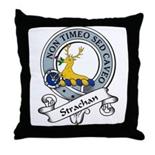 Strachan Clan Badge Throw Pillow