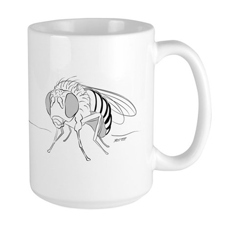 Drosophila line art Large Mug