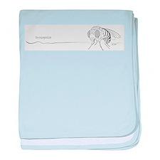 Drosophila line art Infant Blanket