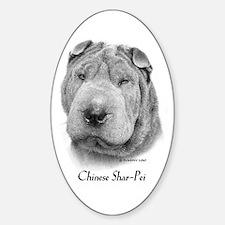 Chinese Shar-Pei Sticker (Oval)