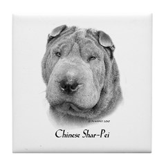 Chinese Shar-Pei Tile Coaster