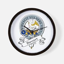 Stewart Clan Badge Wall Clock