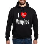 I Love Vampires (Front) Hoodie (dark)