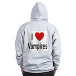 I Love Vampires (Back) Zip Hoodie