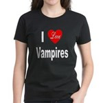 I Love Vampires (Front) Women's Dark T-Shirt