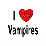 I Love Vampires Small Poster