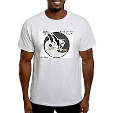 Ying Jow Pai Kung Fu Logo Ash Grey T-Shirt