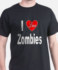 I Love Zombies (Front) T-Shirt