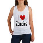 I Love Zombies Women's Tank Top