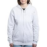 I Love Zombies (Back) Women's Zip Hoodie