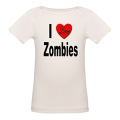 I Love Zombies (Front) Tee