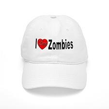 I Love Zombies Baseball Cap