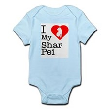 I Love My Shar Pei Infant Bodysuit