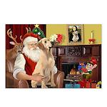Santa's Lab (Y-lap) Postcards (Package of 8)