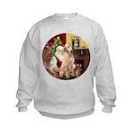Santa's Lab (Y-lap) Kids Sweatshirt