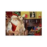 Santa's Lab (Y-lap) Rectangle Magnet (10 pack)