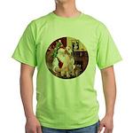 Santa's Lab (Y-lap) Green T-Shirt