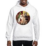 Santa's Lab (Y-lap) Hooded Sweatshirt