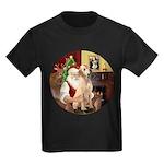 Santa's Lab (Y-lap) Kids Dark T-Shirt