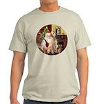 Santa's Lab (Y-lap) Light T-Shirt