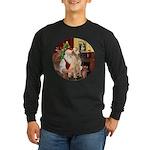 Santa's Lab (Y-lap) Long Sleeve Dark T-Shirt