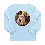 Santa's Lab (Y-lap) Long Sleeve Infant T-Shirt
