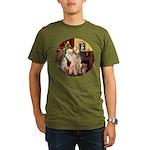 Santa's Lab (Y-lap) Organic Men's T-Shirt (dark)