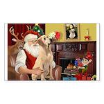 Santa's Lab (Y-lap) Sticker (Rectangle 10 pk)