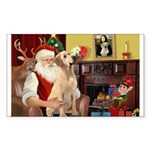 Santa's Lab (Y-lap) Sticker (Rectangle)