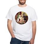 Santa's Lab (Y-lap) White T-Shirt