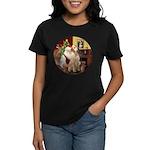 Santa's Lab (Y-lap) Women's Dark T-Shirt