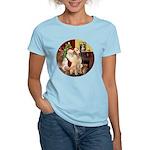 Santa's Lab (Y-lap) Women's Light T-Shirt