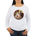 Santa's Lab (Y-lap) Women's Long Sleeve T-Shirt