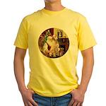 Santa's Lab (Y-lap) Yellow T-Shirt